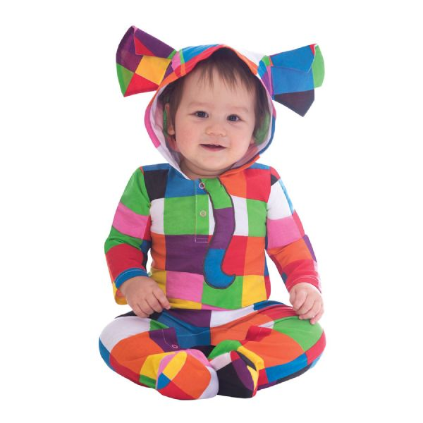 Elmer Baby Costume Toddlers Fancy Dress Outfit